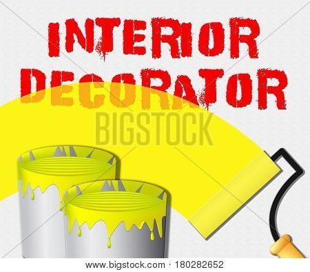 Interior Decorator Displays Home Painter 3D Illustration