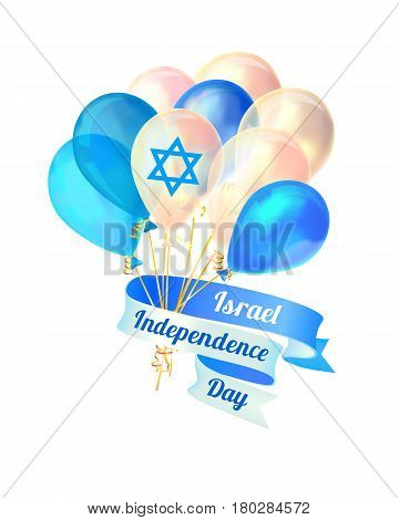 Israel Independence Day. Vector Card
