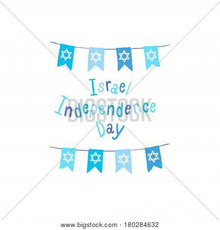 Israel Independence Day. Vector Cards