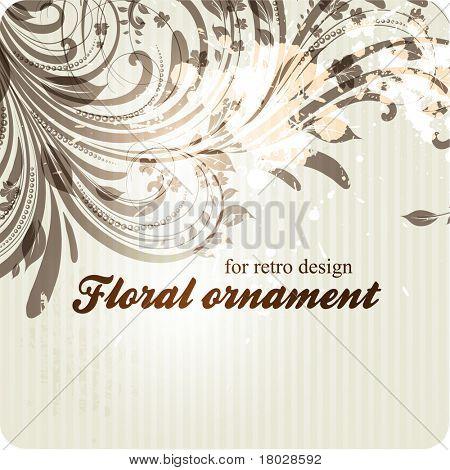 eps10 vector vintage floral design