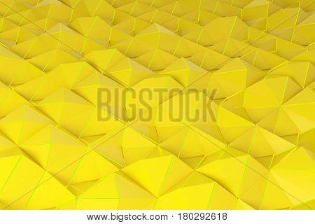 Pattern Of Yellow Pyramid Shapes