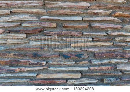 multicolored rock and mortar wall Williams Arizona