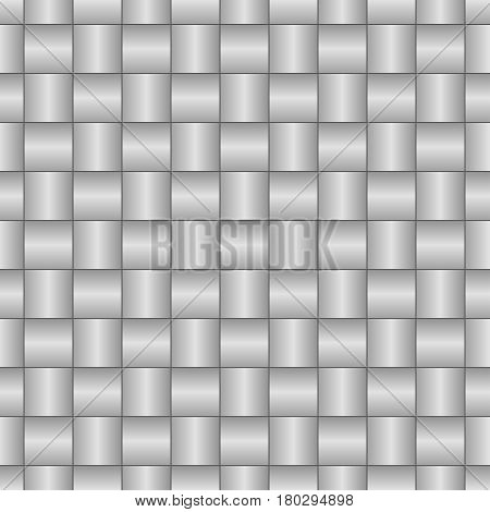 Abstract decorative textured basket weaving seamless pattern. Vector background in black and white