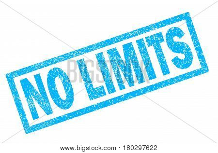 no limits stamp on white background. no limits stamp sign.