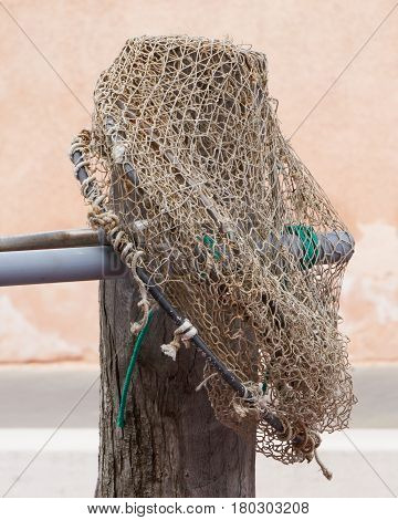 Fishing Nets On Boat At Port