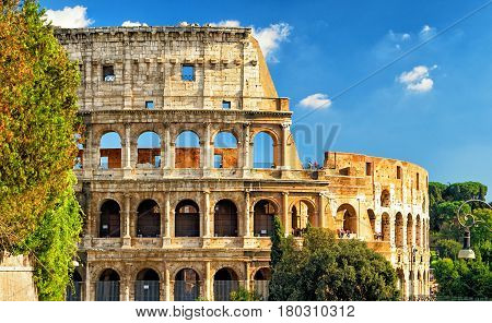 The famous Colosseum (Coliseum) in Rome, Italy
