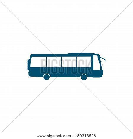 city public bus navy bus symbol on white backgroud