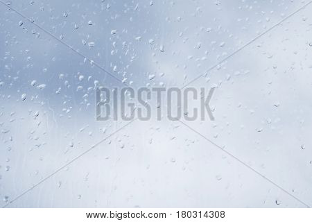 Drop Of Water At Window Glass