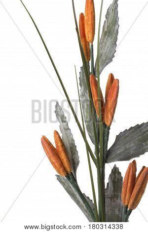 Orange border decoration isolated over white background