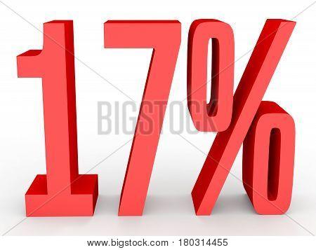 Seventeen Percent Off. Discount 17 %.