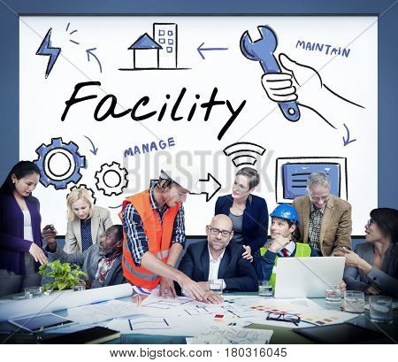 Facility Equipment Maintain Manage Concept
