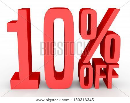 Ten Percent Off. Discount 10 %.