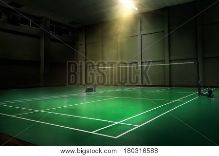 professional tournament badminton court, nobody sport championship competition arena