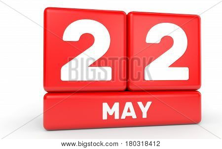 May 22. Calendar On White Background.