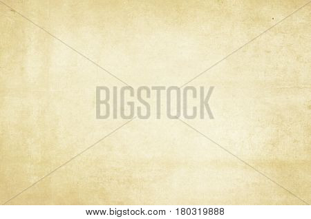 Aged yellowed and dirty paper background or texture for design.