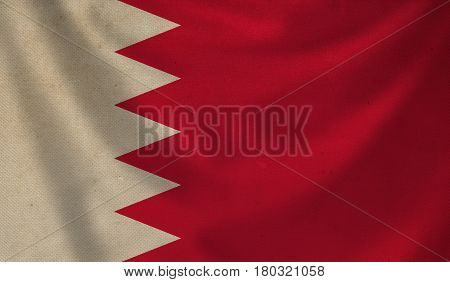 Vintage background with flag of Bahrain. Grunge style.