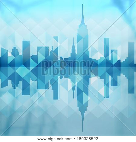 Abstract City Building Background Design