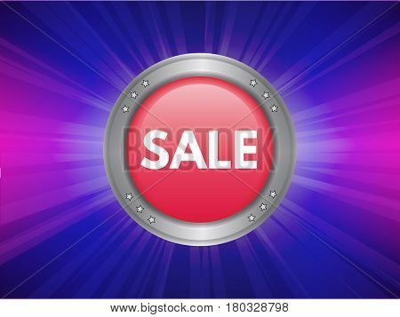The concept of sales. Button for sale.. Vector illustration.