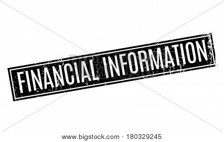 Financial Information rubber stamp. Grunge design with dust scratches. Effects can be easily removed for a clean, crisp look. Color is easily changed.