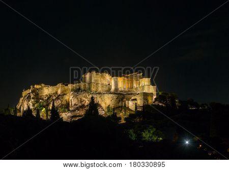The Parthenon In Night