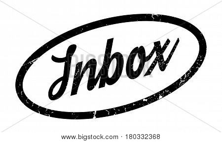 Inbox rubber stamp. Grunge design with dust scratches. Effects can be easily removed for a clean, crisp look. Color is easily changed.