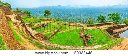 Panorama Of Sigiriya Upper Palace