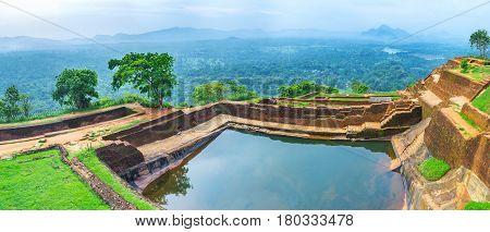Panorama Of Sigiriya Cistern