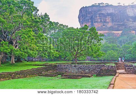 The Way To The Rock Of Sigiriya