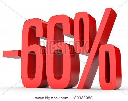 Minus Sixty Six Percent. Discount 66 %.