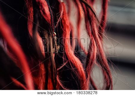 Pretty Girl With Long Hair Walking Away On A Bridge