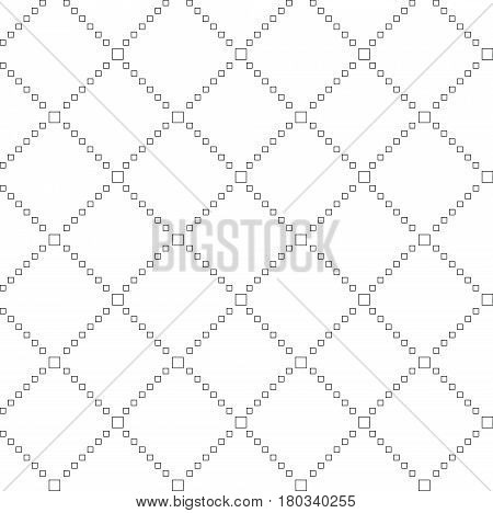 Vector seamless pattern. Black and White modern stylish texture. Repeating geometric tiles of rhombuses