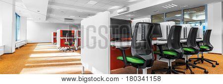 Computer Classroom With Orange Floor