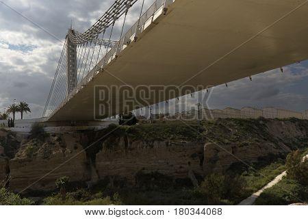 Bridge Of The Bimillennial In Elche, Spain.