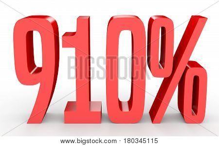 Nine Hundred And Ten Percent. 910 %. 3D Illustration.