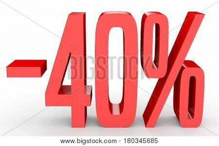 Minus Forty Percent. Discount 40 %.