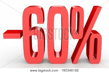 Minus Sixty Percent. Discount 60 %.