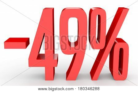 Minus Forty Nine Percent. Discount 49 %.