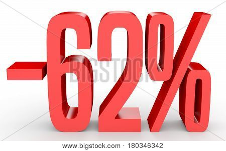 Minus Sixty Two Percent. Discount 62 %.