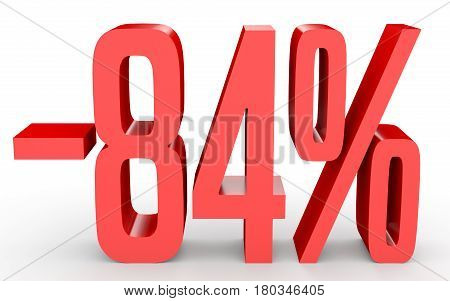 Minus Eighty Four Percent. Discount 84 %.