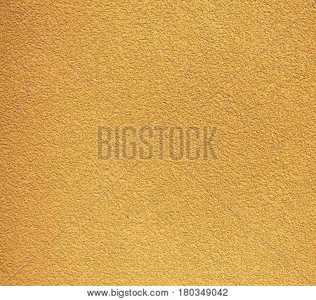 Yellow Rugged Plaster Wall, Texture Or Background