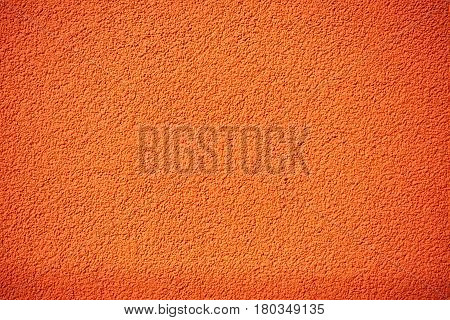 Orange Rough Plaster Wall, Rugged Texture Or Background