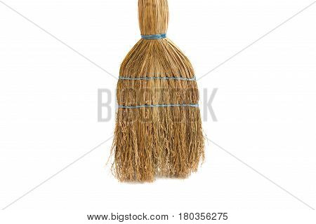 Broom vintage object isolated on white background