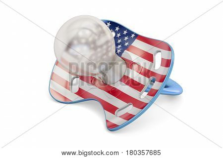 American Maternity and birthrate in USA concept 3D rendering isolated on white background