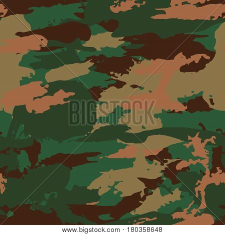 Classic Seamless Military Camouflage Pattern Background Vector
