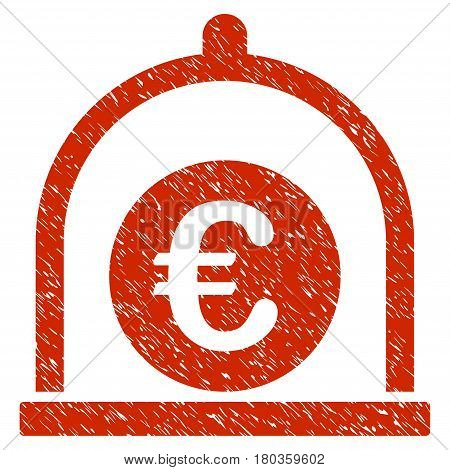 Grunge Euro Standard icon with grunge design and unclean texture. Unclean vector red pictogram for rubber seal stamp imitations and watermarks. Draft sign symbol.