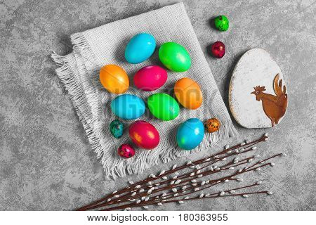 Painted Eggs Of Chicken And Quail