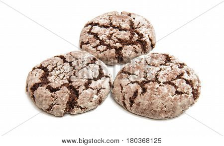 biscuits chocolate cookie isolated on white background