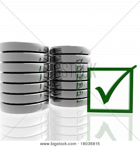 Database Symbol with Check Mark