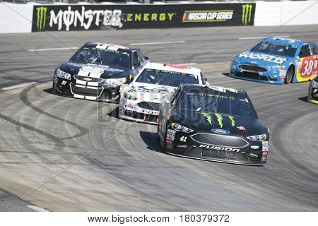 April 02, 2017 - Martinsville, Virginia, USA:  Kurt Busch (41) brings his race car through the turns during the STP 500 race at the Martinsville Speedway in Martinsville, Virginia.
