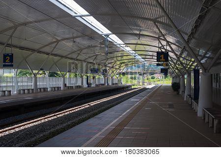 Taiping, Perak, Malaysia - Circa April 2017 - Taiping, Perak Electric Train Service (ETS) Station